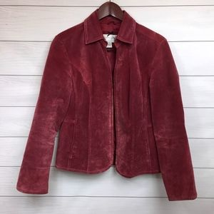 Live A Little Pink Suede Jacket Medium